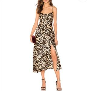 Dresses & Skirts - Cowl Strappy Dress in Leopard Print